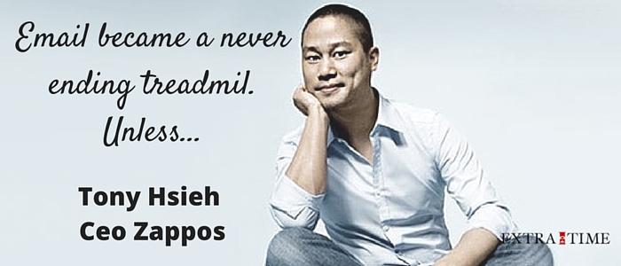 Wat Tony Hsieh, Ceo van Zappos doet met zijn email