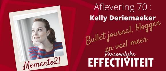 070 – Interview Kelly Deriemaeker – Bulletjournal, schrijven, en veel meer