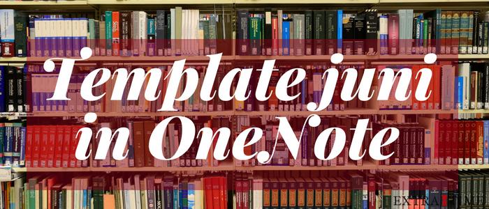 Template OneNote juni 2018