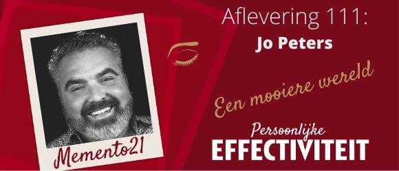 Afl 111 Een mooiere wereld – Interview met Jo Peters