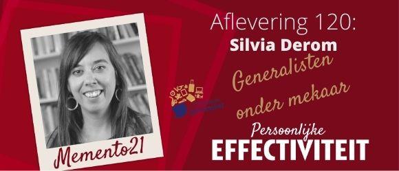 Afl 120 – Generalisten onder mekaar – Interview Silvia Derom